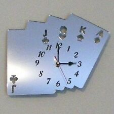 Poker Cards Mirrored Clock