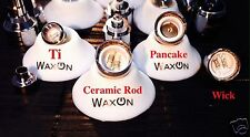 Wax On Pro Bowl Replacement Coils Dual Ceramic Rod & Wick & Pancake Coils WaxOn!
