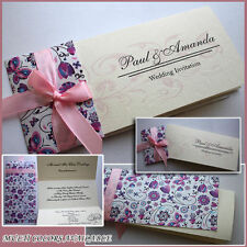 50 PERSONALISED Wedding Invitations Day Evening Free P&P HANDMADE