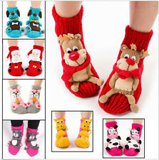 2014 New Cute Animal Women Wool Socks Warm Winter Slipper Socks Christmas Gift