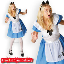 Adult Disney Alice in Wonderland Official Costume Ladies Fancy Dress 8-16