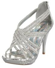 New Rhinestone Platform Pumps Sandals Shoes PARTY PROM WEDDING Stiletto Heel