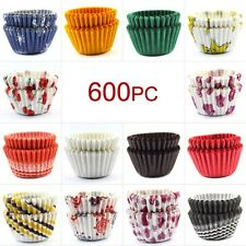 600 MINI Cupcake Case/Liners Baking Muffin Cases Various Colours