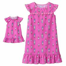 Girl 4-7 and Doll Matching Nightgown Pajama Clothes American Girls Dollie & Me