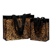 Leopard Waterproof Handbag Reusable Tote Bags  Shopping Travel Trumpet Grocery