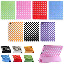 Spot Polka Dot Leather Skin Case Smart Cover Protector For Apple iPad 2 3 4 4G