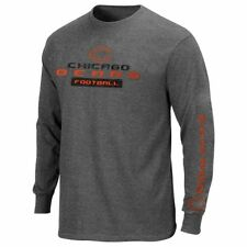 Chicago Bears MENS Long Sleeve Shirt Best Team Standing Charcoal by Majestic