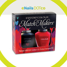 Cuccio Colour Match Makers Gel Polish and Nail Polish Lacquer kit Set.5oz