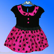 Girls Official Disney Minnie Mouse Party Dress Costume Age 1 2 3 4 5 6 Years