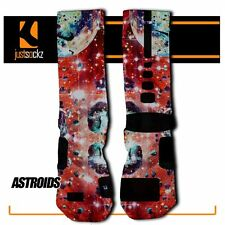 ASTEROID Custom Nike Elite Socks outer space red blue galaxy stars universe