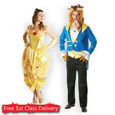 Adult Beauty Beast Fancy Dress Outfit Couples Costumes Ladies Belle Mens Beast