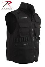 Rothco Black Military Tactical Ranger Vest With Hood 7557