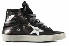 GOLDEN GOOSE SCARPE SNEAKERS ALTE DONNA IN PELLE NUOVE FRANCY NERO SHOES WOM C12