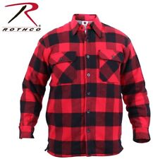Red Exta Heavyweight Buffalo Plaid Sherpa Lined Brawny Flannel Coat Shirt 3739