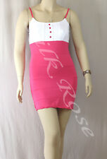 WOMENS CLOTHING SEXY LITTLE WHITE & HOT PINK CLUB DRESS INCL PLUS SIZES