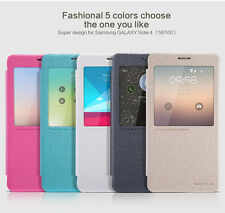 Nillkin APP Smart S-View Flip Leather Cover Case for Samsung Galaxy Note 4 N9100