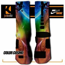 COLOR COSMO Custom Nike Elite Socks basketball universe galaxy outer space