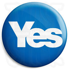 Yes - Scottish Referendum, Scots Independence Button Badge, Fridge Magnet Option