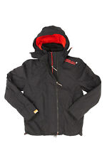 Superdry Mens Hooded Arctic Windcheater Jacket Black Rich Red RRP £74.99 10% off
