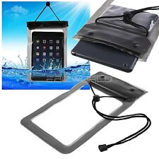 "100% WATERPROOF BEACH BAG SLEEVE TABLET CASE SAND PROOF + SECURE SEAL 8"" POUCH"