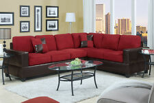 Sectional Sectionals Microfiber w Faux Leather Corner Sofa Loveseat 2pcs New