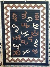 New! 6X8, 3X7, 3X4 Black Branding Iron Brands Country Western Lodge Area Rugs
