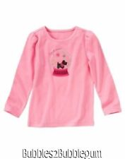 Gymboree NWT Girls Cheery all the way pink snowglobe dog shirt 4 5 6 7
