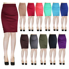 Sexy Bodycon Slim Elegant Casual Solid Straight Pencil Skirt - Made in USA