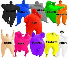 Adult Chub Suit Inflatable Blow Up Color Full Body Costume Jumpsuit+5 Colors