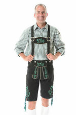 German Bavarian Oktoberfest Trachten Short Length Lederhosen All Sizes #KPLATTGR