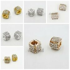 5/25x Gold/Silver Plated Rose Gold Charms Beads Fit European Jewelry Hot Sale D