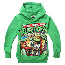 3-8Y Boys Mutant Ninja Turtles Cotton Autumn Spring Green Blue Hoodies Pullover