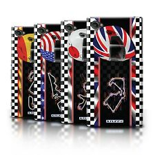 Hard Case Bumper Cover for Sony Xperia Z1 Compact / Printed F1 Track & Flag