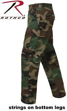 Military Style Woodland Camouflage 100%Cot Rip-Stop BDU Cargo Fatigue Pants 5947