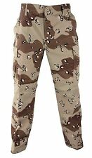 H.W. 6-Color Desert 6-Pocket Military Poly/Cotton BDU Cargo Fatigue Pants 8835