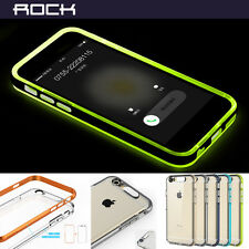 Rock Incoming Call LED Blink Back TPU Transparent Case Cover For iPhone 5 6 4.7'