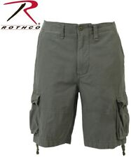Olive Drab Green Vintage Army Infantry Military Utility Cargo Shorts 2544