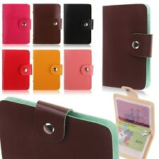 Small Size Portable 24 Slots Business ID Credit Card Holder Wallet Pocket Case