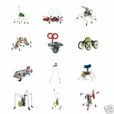 Kikkerland Wind Up Walking Robot Collector Gear Toy Box Stainless Steel