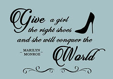 Duck Egg Blue Give a Girl Shoes Quote Canvas Wall Art Print ALL SIZES ANY COLOUR