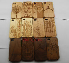 Fashion Carved Design Genuine Wooden Bamboo Case Cover for Apple iPhone 4 4S
