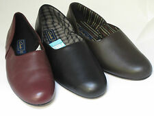 Clarks men slippers king ross wine black or brown leather