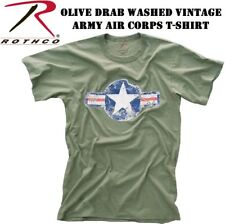 """OLIVE DRAB GREEN Army Vintage Military """"  ARMY AIR CORP """" T-Shirt 66300"""