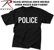 BLACK POLICE & MILITARY ISSUE 2-Sided Law Enforcement T-Shirt 6612