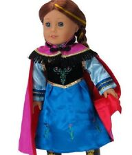 """Doll Clothes AG 18"""" Frozen Anna Dress Cape Made To Fit American Girl Dolls"""