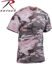 Subdued Pink Camouflage Tactical Military Short Sleeve Army Camo T-Shirt 8681