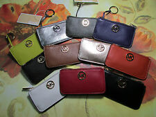 NWT Michael Kors Leather Fulton Key Pouch Wallet Eleven Colors