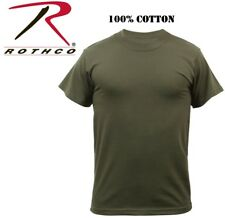 Olive Drab Green Military Tactical Short Sleeve 100% Cotton T-Shirt 7979