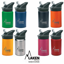 Laken Thermo Insulated Kids Water Bottle Wide Mouth Drinking Cap Flip Straw 350