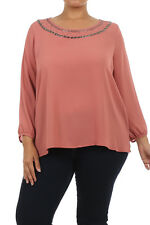SimplyPlus Plus Size Clothing Women's Long Sleeve Comfortable Stylish Top 2X 3X